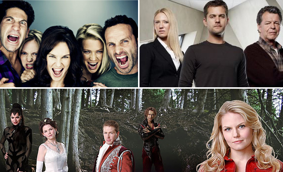 The Walking Dead, Fringe, Once Upon a Time